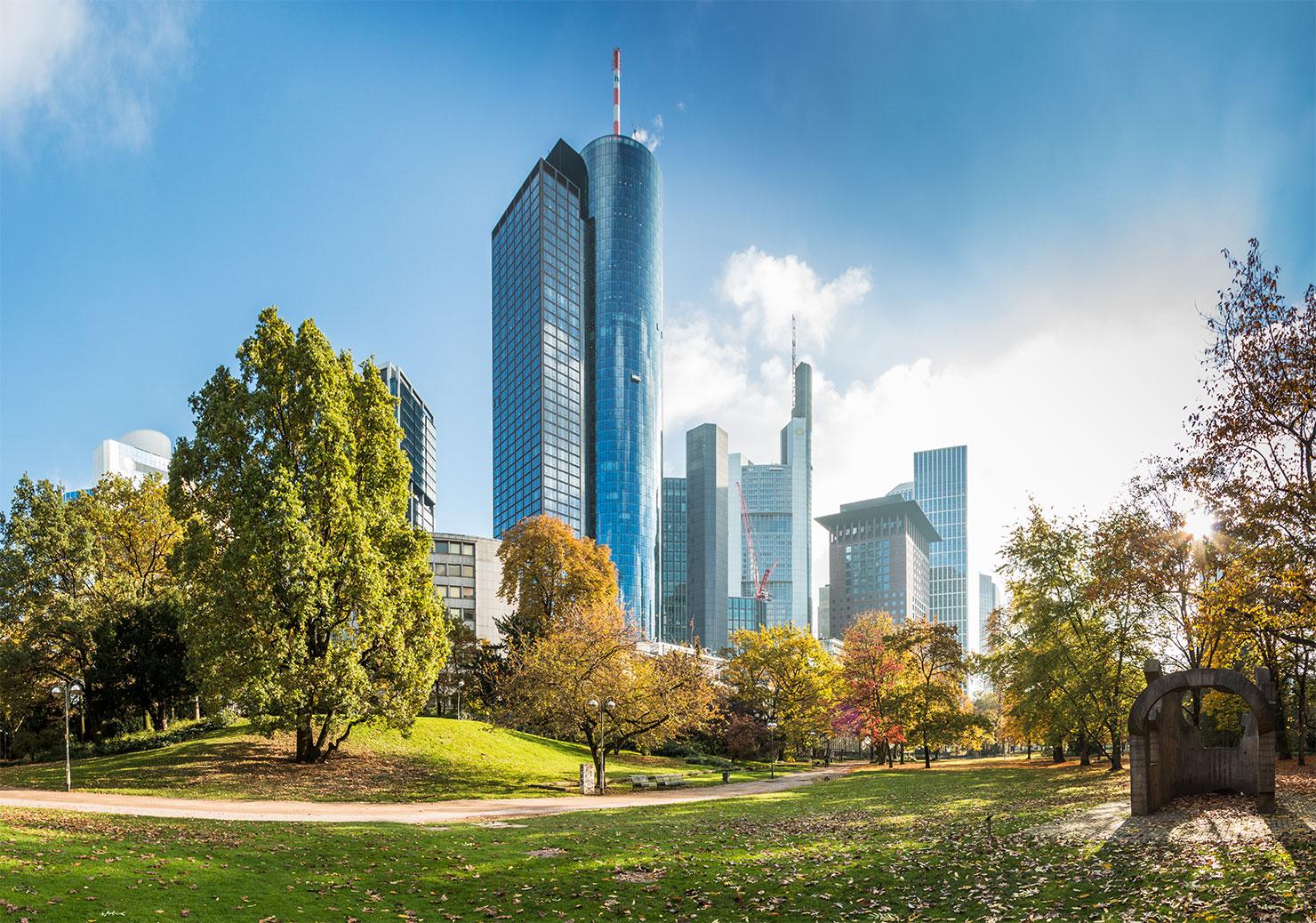 Frankfurt Taunusanlage Skyline