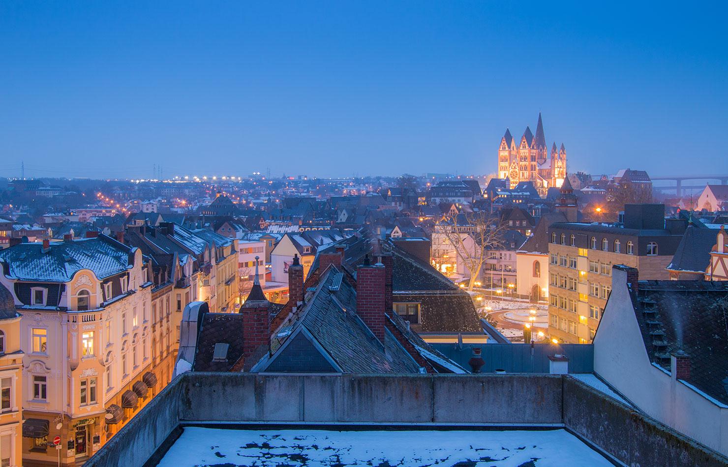 Limburg Lahn Schnee