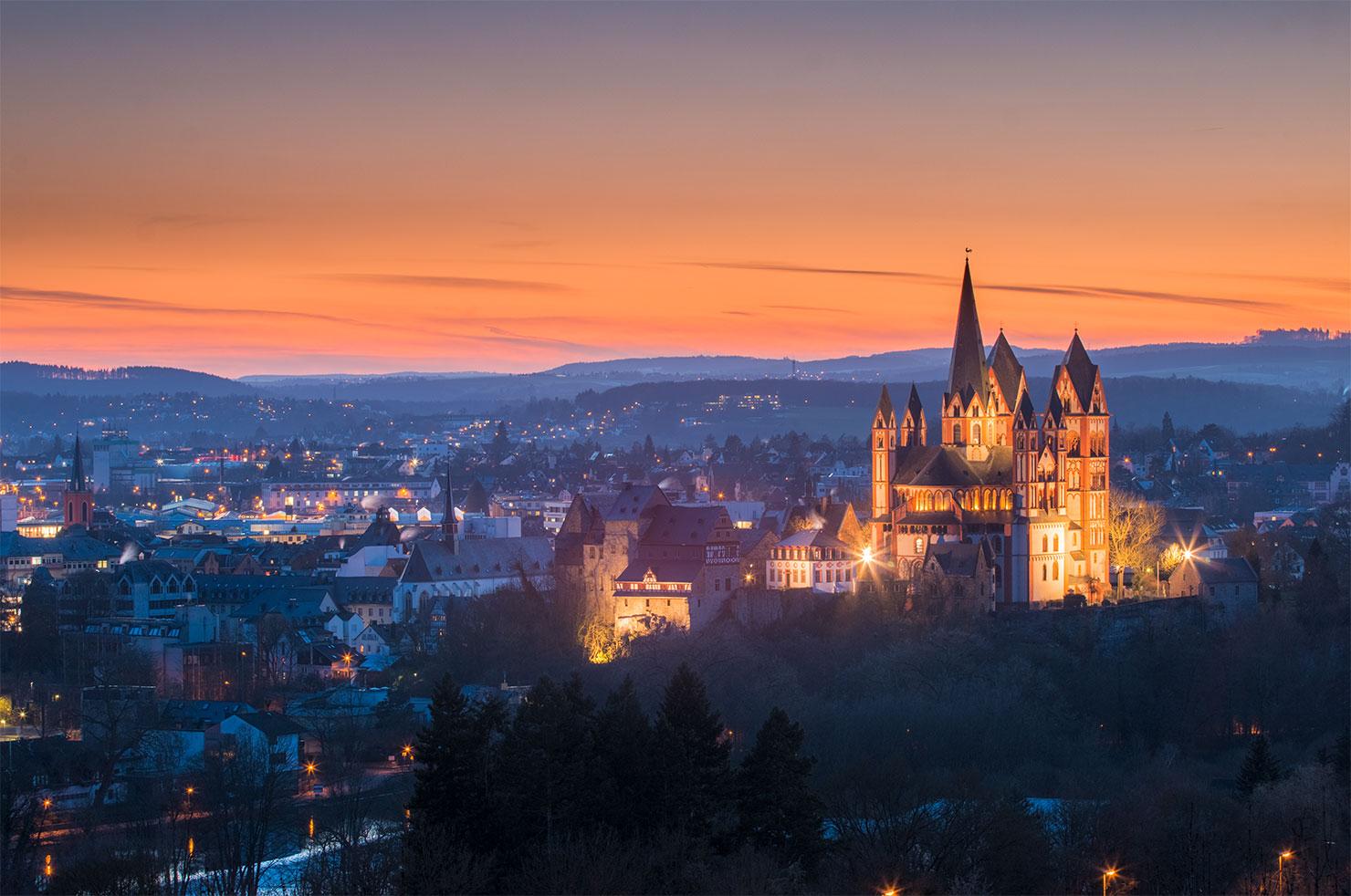 Limburg Lahn Abendrot