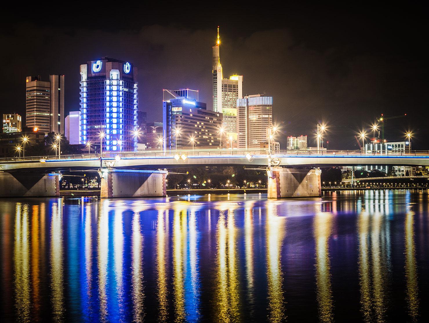 Skyline Frankfurt Nacht Westend