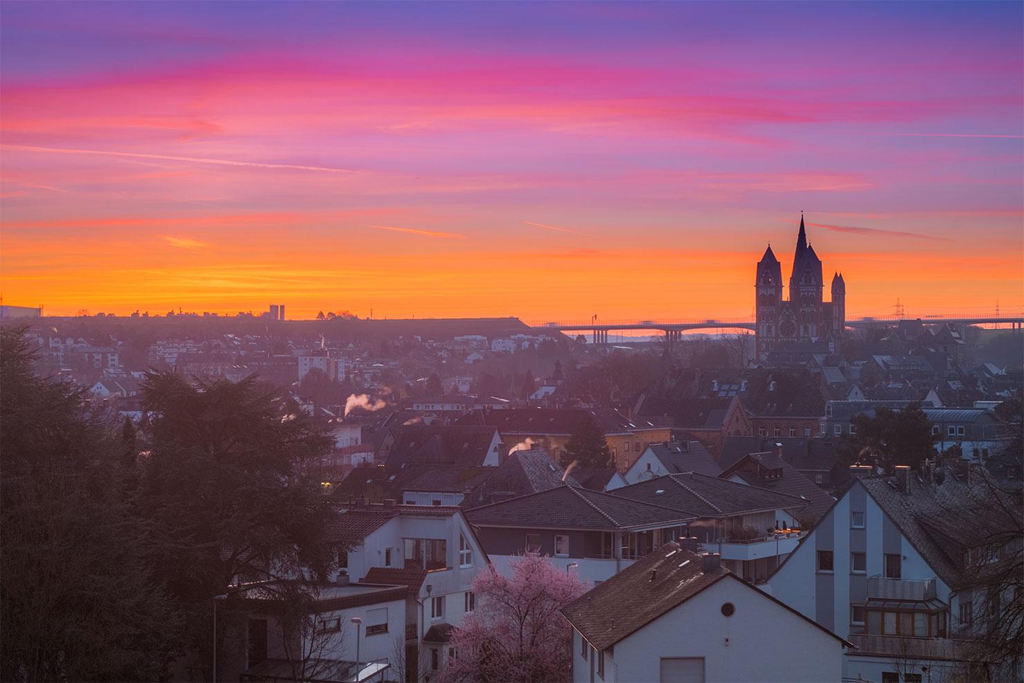 Limburg Frühling Sonnenaufgang Schafsberg