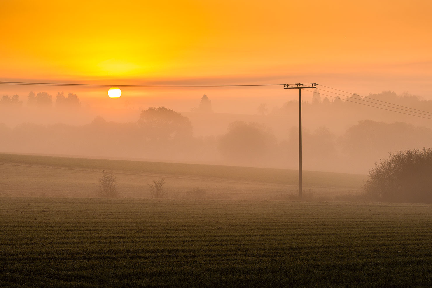 Sonnenaufgang Kreis Limburg-Weilburg