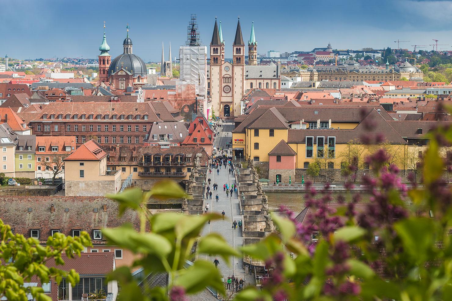 Würzburg Domstraße Dom Frühling