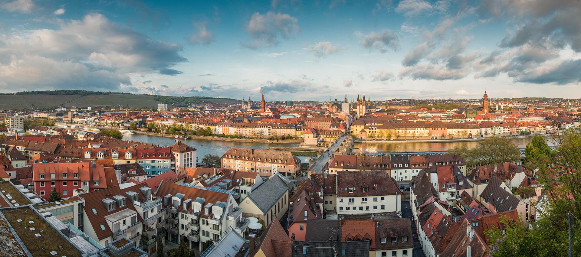 Würzburg Frühling Abend
