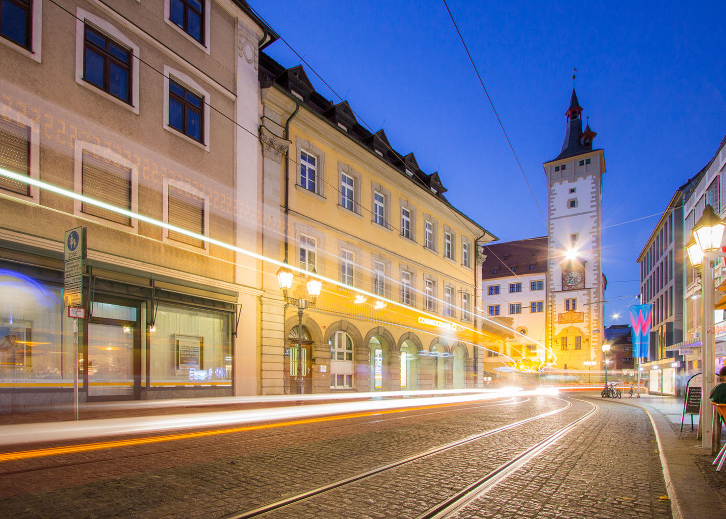 Würzburg Grafeneckart blaue Stunde