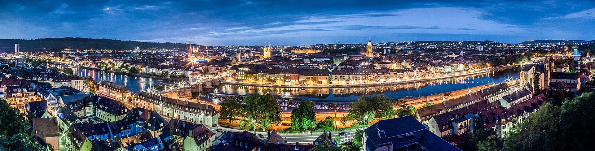 Würzburg Ansicht bei Nacht