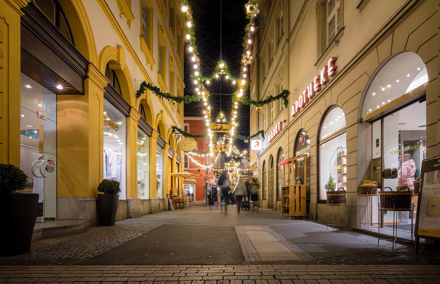 Würzburg Schustergasse Weihnachten